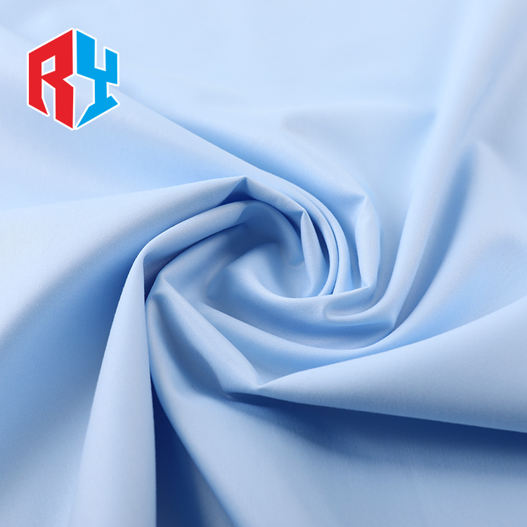 Low MOQ 48*150D accepted washing plain dying woven spun polyester fabric arab thobe