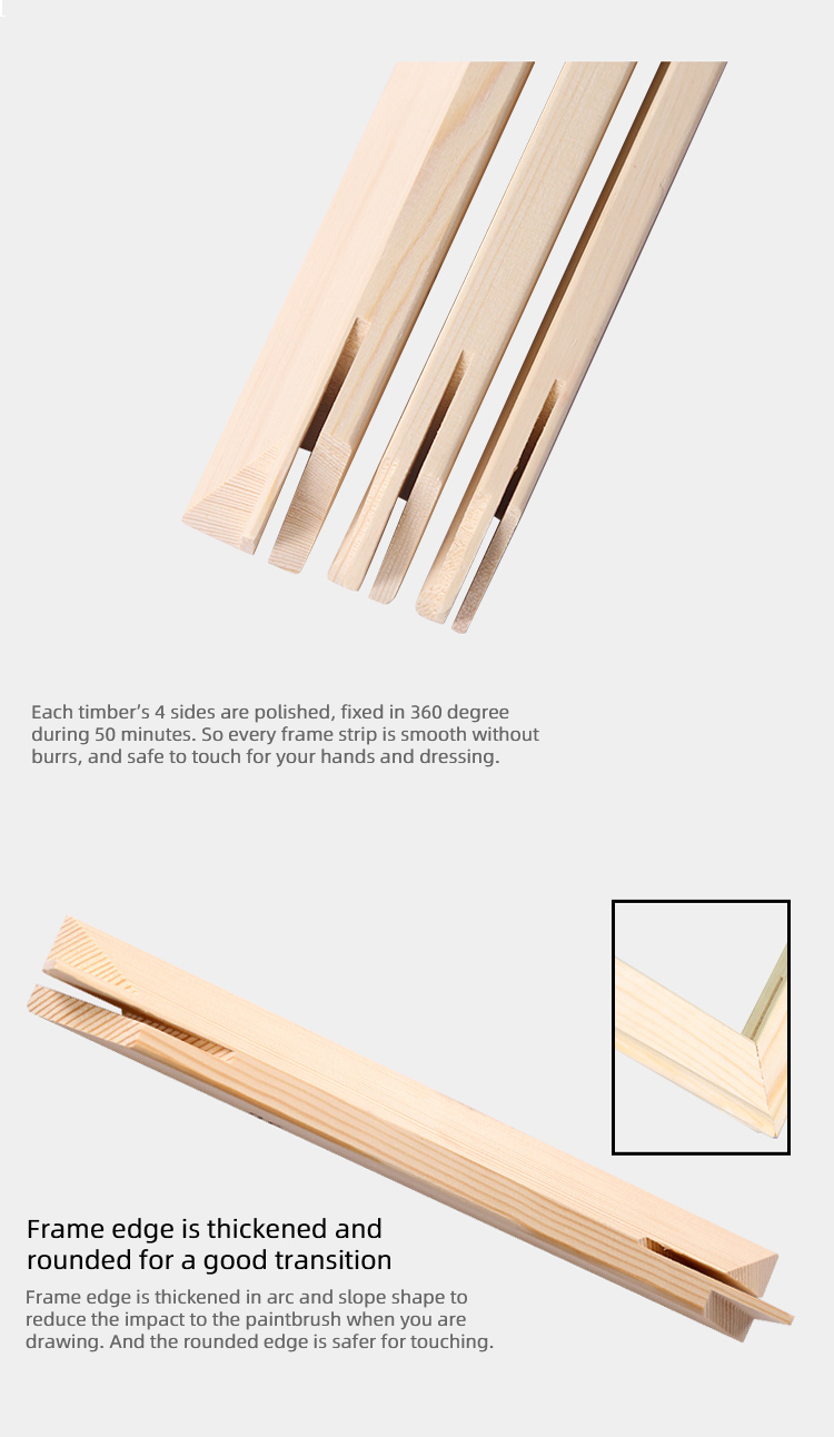 China Manufacture Wholesale Pine Wood Stretcher Bars for Canvas