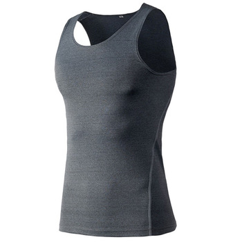 China manufacturer good quality vest polyester with spandex tank tops soft comfortable singlets