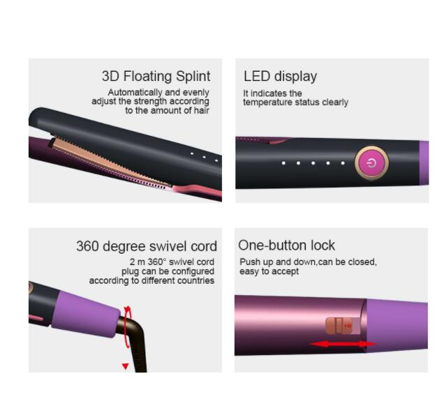 Professional Hair Straightener Curling Iron 2 in 1 Twisted Flat Iron for All Hair Types