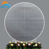 Naxilai Floral Round metal frame wall mount decoration wedding backdrop mesh backdrop for party decor