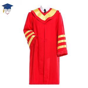 Wholesale Custom Economy PHD Graduation Gowns With Hoods