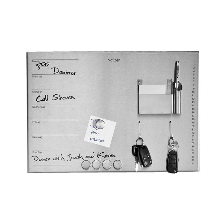 Stainless Steel Magnetic Notice Memo Board