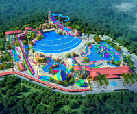 popular big commercial profitable fiberglass water park planning