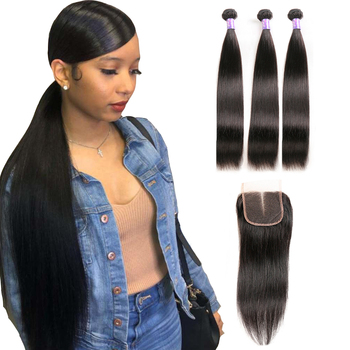 Kemy hair wholesale virgin vendors unprocessed cheap hair human extension weave bundle with closure