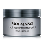 Private Label Hair Clay 9 Colors Strong Hold Mens Hair Clay Product Purple Color hair dye pigment Grey