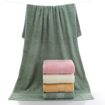 500g Premium Bamboo bath Towel pink color