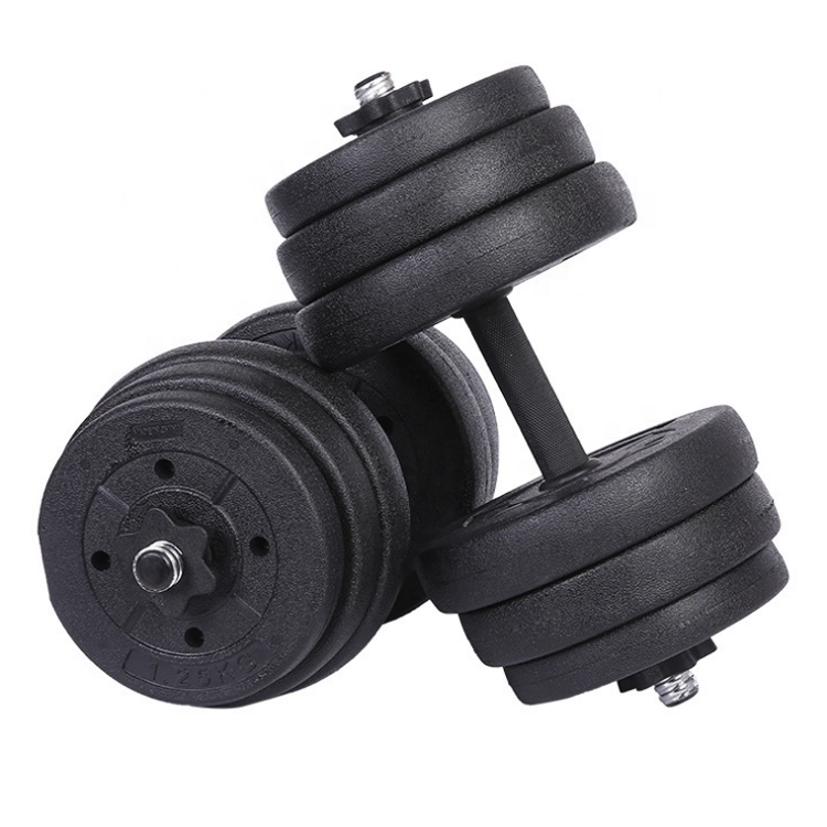Gym Adjustable Dumbbell Set Semen Plastik Dumbbell