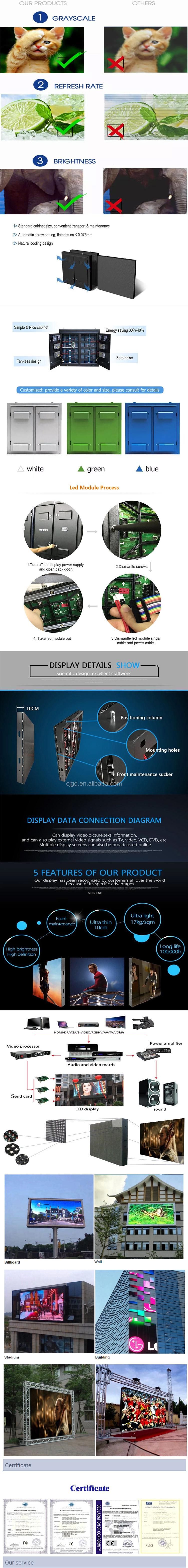 الإعلان التجاري في الهواء الطلق P6 شاشة led/علامة led/لوحة عرض إعلانات مزودة بلمبات led