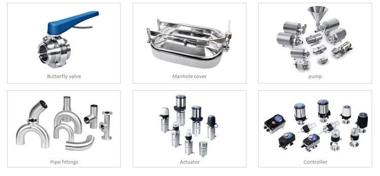 3A stainless steel fluid EPDM multichannel diaphragm valve