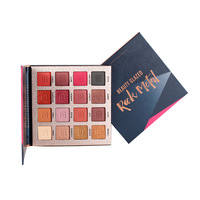 Organic OEM Stock Have Matte and Glitter Eye Shadow Palette Makeup 16 Colors High Pigment Eye Shadow Palette