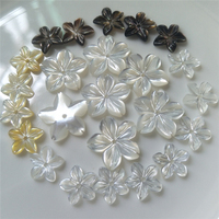 Fashionable mother of pearl shell flower materials for jewelry making