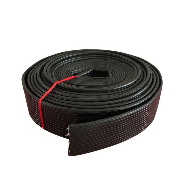 Heavy duty black nature rubber Lay Flat Water Discharge Hose Pipe