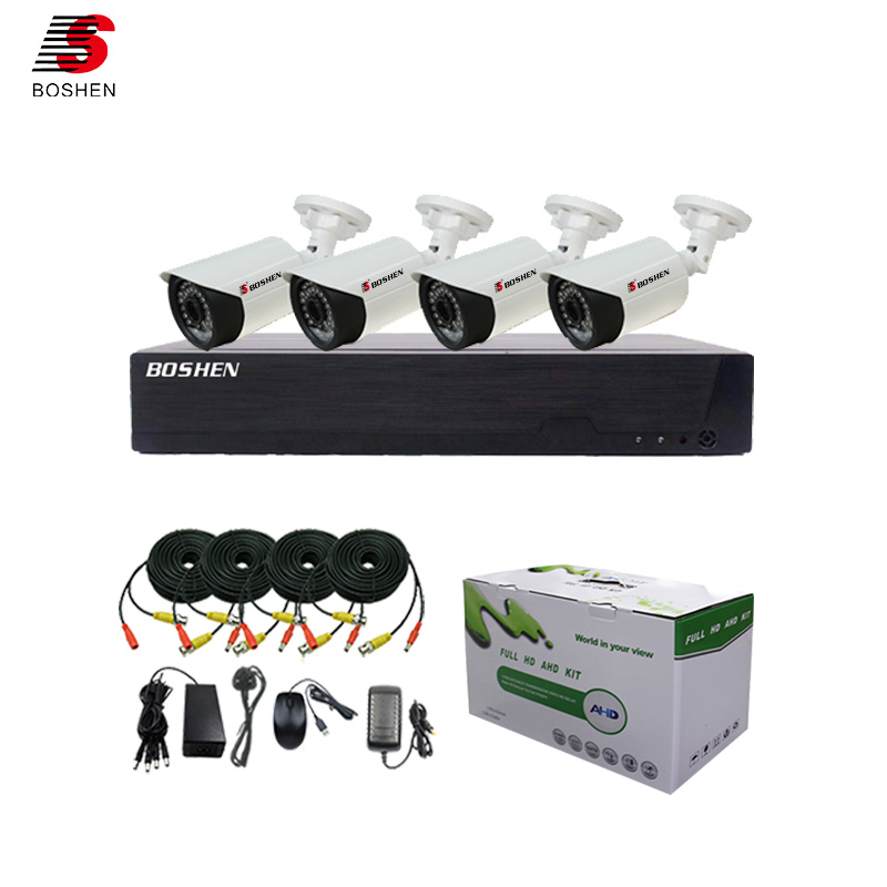 Boshen top 10 profesional DIY smart home video surveillance hd 4ch 1080n 4 in 1 DVR kit outdoor 1080p cctv <strong>camera</strong>