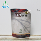 Juice Pouch Spouted Customized Logo Reusable Aluminum Foil Metalized Liquid Stand Up Beverage Juice Sauce Pouch Bag With Spouted