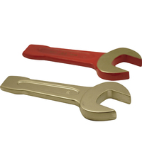 Custom Alloy Tool Steel Combination Spanner Ring Wrench And Open End Spanner
