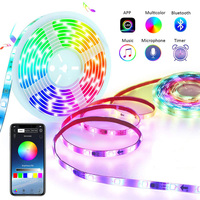 Dream Color LED Strip Lights with APP Controlled 5m/16.4ft LED Lights with Multicolor Chasing, Waterproof RGB LED Strips