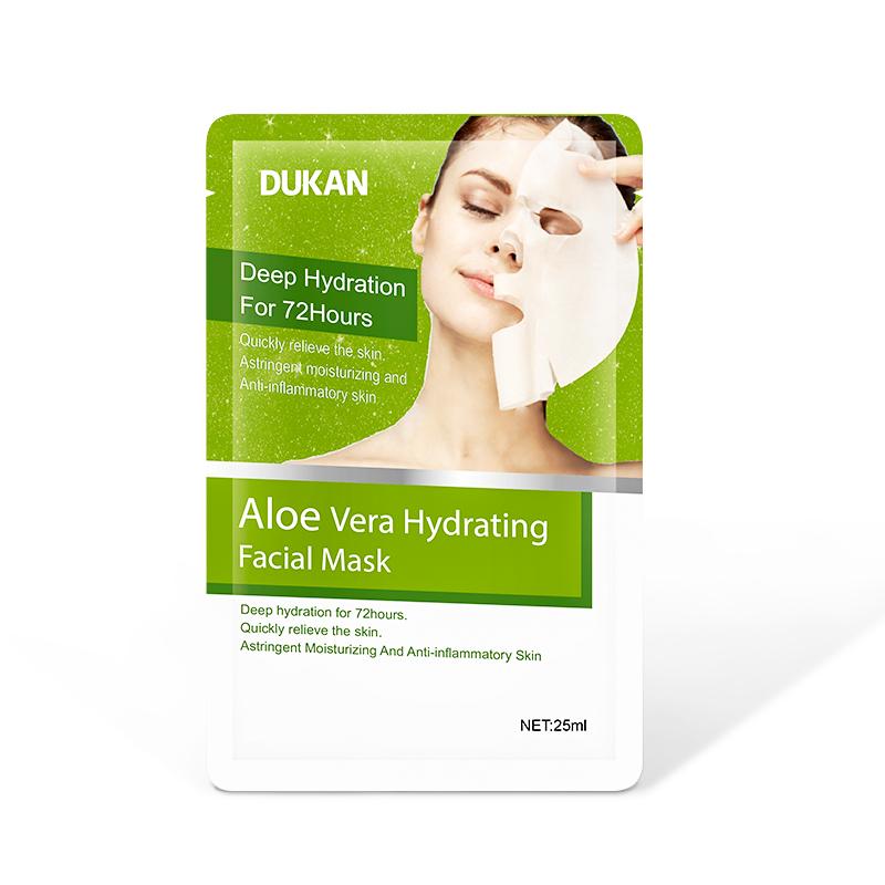 Feuchtigkeitsspendende Blatt Maske Bleaching Öl Control Anti Akne mark Aloe Vera essenz Gesichts Masken Dukan Marke Maske hautpflege