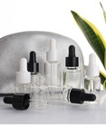 serum cosmetic 10ml 15ml 20ml 30ml round black matte glass dropper bottle essential oil bottles