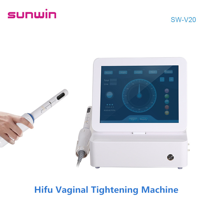 Sunwin SW-V20 Hifu Vaginale Aanscherping Machine Fabriek Prijs 2 In 1 3D Hifu 10000 Shots Body Thuisgebruik Vaginale Aanscherping machine