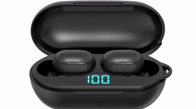 True Wireless Headphones Headset Earbuds Lcd Digital Electric Quantity Waterproof Noise Reduction Bluetooth Earphone