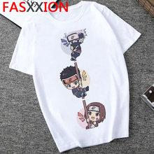 Мужская футболка Наруто, уличная одежда с японскими аниме-принтами, классные 2020 забавные мультяшные футболки с графическими принтами для м...(Китай)