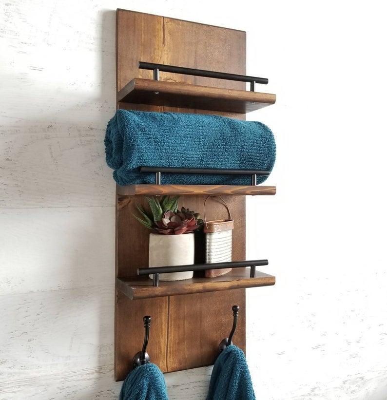 Плавающая полка-органайзер, 3 уровня, полка для ванной комнаты, вешалка для полотенец, органайзер для прихожей, органайзер для ванной комнаты