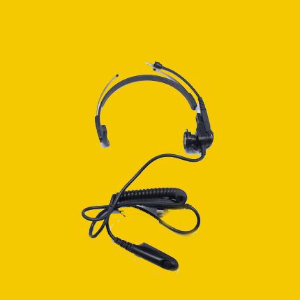 Motorola two way radio earpiece PMLN5153 walkie talkie Headphones Lightweight Headphones with Microphone for GP329EX - idealBuds Earphone | idealBuds.net
