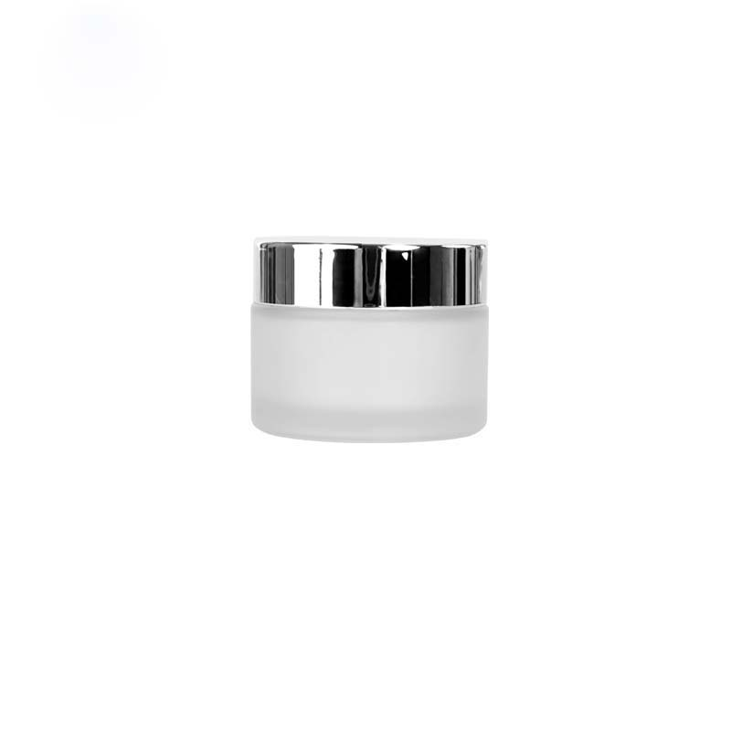 30g 30ml frosted glass cosmetic cream jar containers with aluminum lid