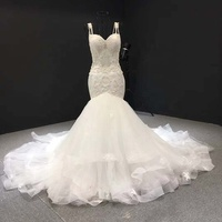 Jancember RSM66237 Women Sleeveless Princess Mermaid Wedding Gown Bridal Dress