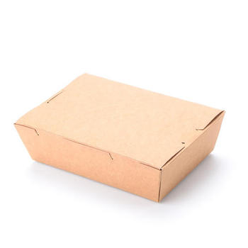 hot sale white cardboard paper fast food box packaging for food