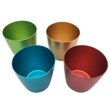 ZRT commercio all'ingrosso inciso colorful bere <span class=keywords><strong>tazza</strong></span> 9 oz birra di alluminio camping mug