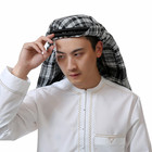 Wholesale islamic men's cotton hijab headwear turbans of muslim men