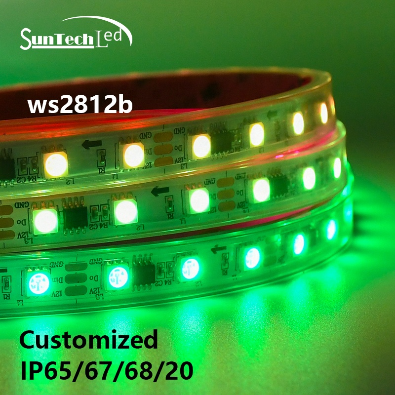 Dream Color LED Strip 5050 DMX512 12V Pixel Light 60leds WS2812  Smart digital addressable LED Strip