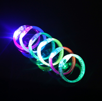 Christmas decoration acrylic light up led flashing bangles bracelet for child party favors