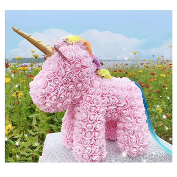 2020 valentine gift pe flower rose unicorn gifts rose foam unicorn gifts