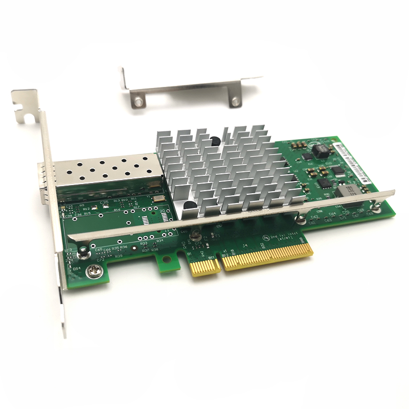 1 Port 10G Fiber Network Card Intel X520 SR1 E10G41BFSR 10/1GbE 10 Gigabit Network Adapter Server NIC SFP PCI-E
