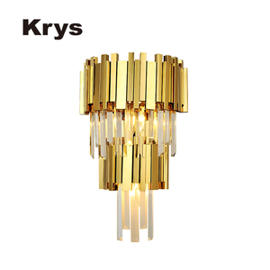 Modern hotel decorative luxury rock crystal wall sconce lamp