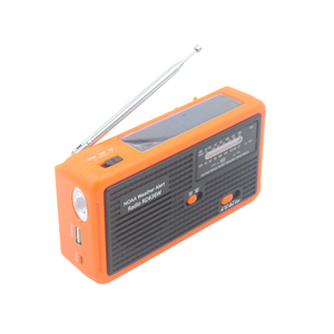 Survival Outdoor Emergency Small Portable Hand Crank AM FM NOAA Weather Band Radio With Torch And Alert