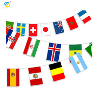 custom 100m world cup string flags banner made in china