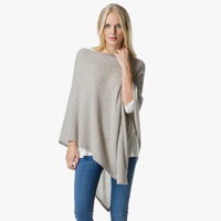 Ladies Pure Cashmere Wrap Ponchos for Women Winter Poncho and Scarf