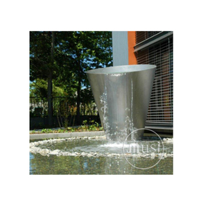 Large Hotel Decoration Sliver Metal Water Fountains Sculpture