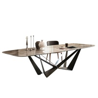 Hot Sale Stainless Steel Dining Table Set Modern