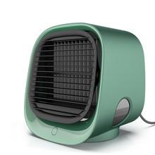 Портативный охладитель воздуха вентилятор увлажнитель очиститель USB настольный мини Кондиционер с баком для воды светодиодный светильник ...(Китай)