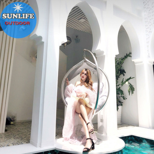 Sun Life Exporting Durable Clear Acrylic Ball Hanging Swing Bubble Chairs With Base Buy Gelembung Jelas Kursi Gantung Bubble Kursi Bubble Kursi Dengan Basis Product On Alibaba Com