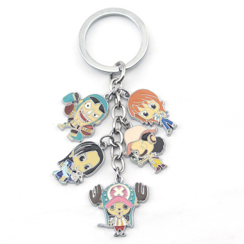 One Piece Hot Anime Figure Collection Nami Chopper Robin Usopp Hancock Set Keychain