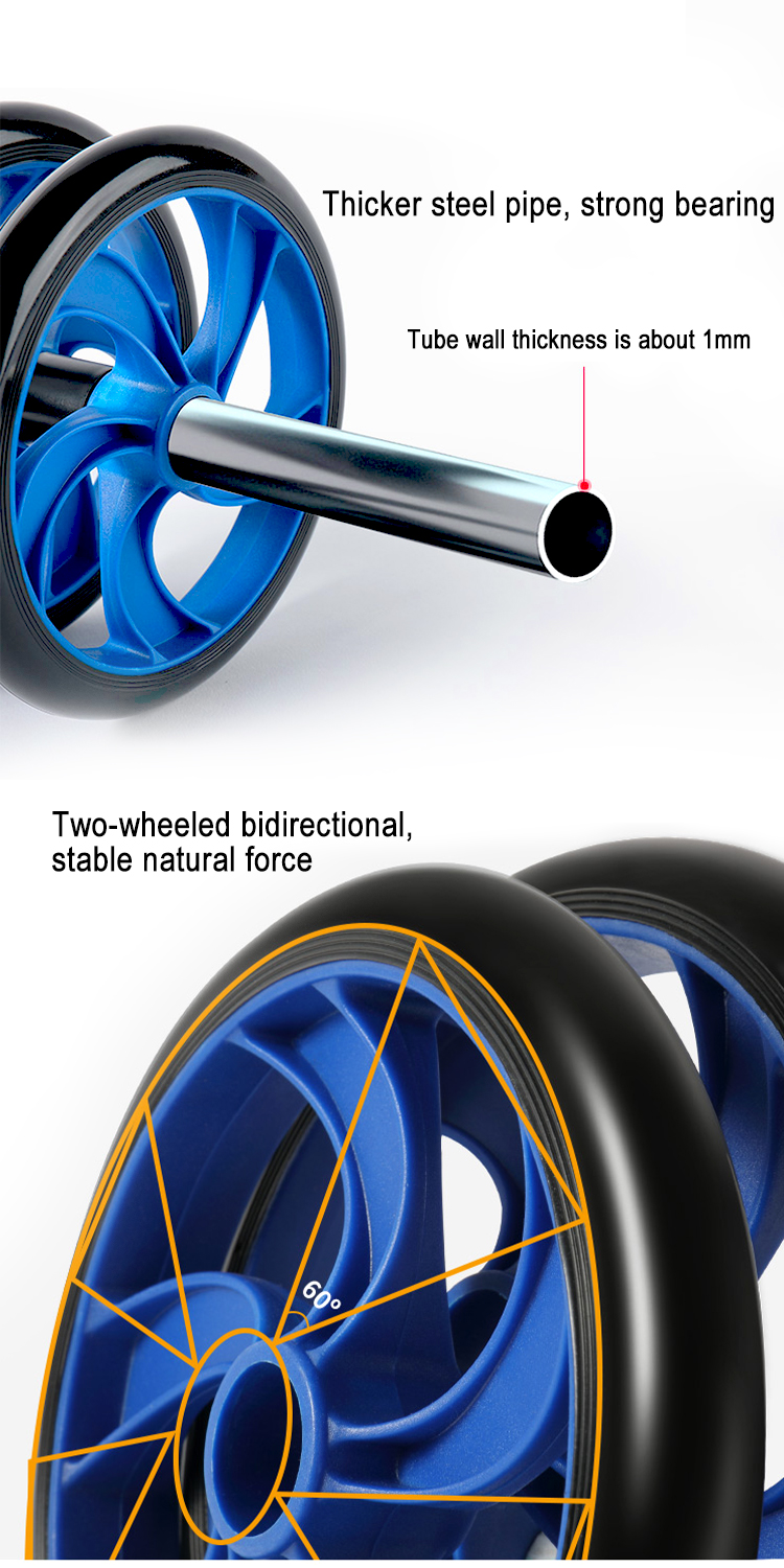 Roller Wheel Ab Workout Gym Sport ABS Plastic Abdominal Wrist Exercise Fitness Back Ab Wheel Roller For Sale