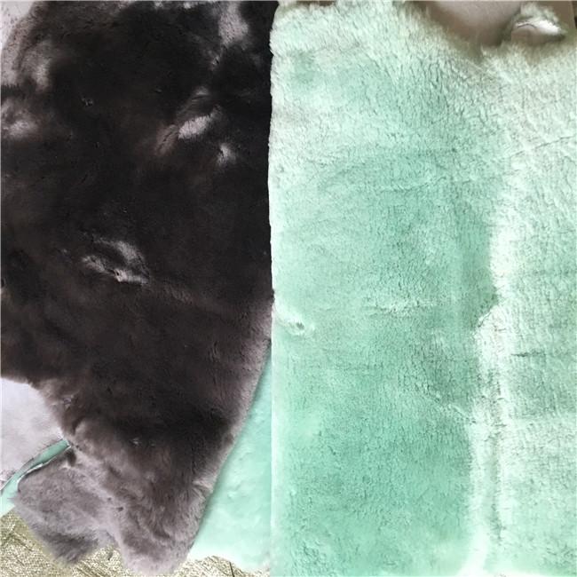 Natural sheepskin material lamb fur