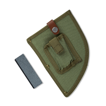 2020 New Design Outdoor Camping Small Sharpener Knife Cover Canvas Pouch Butcher Knife Sheath with Knives Sharpening Stone