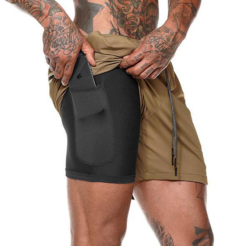 Wholesale Custom Shorts Quick Dry Gym Sport Clothes Elastic Track Shorts Workout Short Pants with Pocket